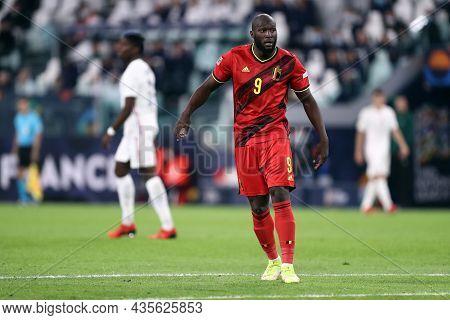Torino, Italy. 7 October. Romelu Lukaku Of Belgium  Looks On During The Uefa Nations League Semi-fin