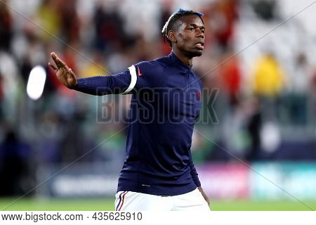 Torino, Italy. 7 October. Paul Pogba  Of France  During Warm Up Before The  Uefa Nations League Semi