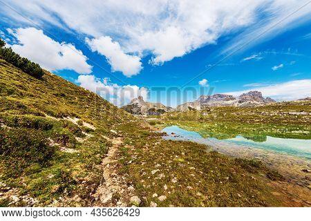 Panoramic View Of Sesto Or Sexten Dolomites From Tre Cime Di Lavaredo Or Drei Zinnen, Dolomiti Di Se