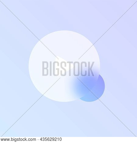 Play Button Glass Morphism Trendy Style Icon. Play Button Color Vector Icon With Blur, Transparent G