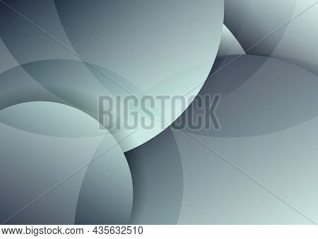 Abstract Gray Circles Layer Overlapping And Shadow With Lighting Background. Vector Illustration