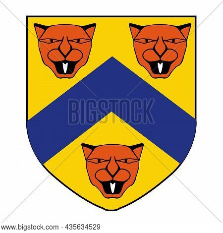 Coat Of Arms Crest For The Ancient English Town Of Stratford Upon Avon