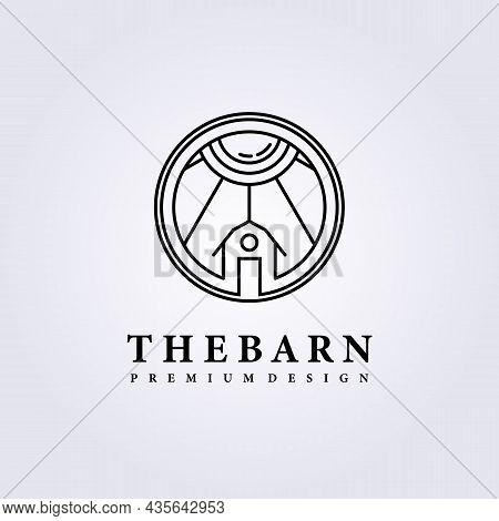 Simple Barn Rustic Modern Logo Vector Illustration Icon Badge Emblem Symbol Label Background Templat