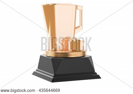 Pitcher Water Filter Golden Award Concept. 3d Rendering Isolated On White Background