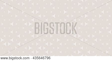 Minimalist Geo Vector Pattern. Seamless White And Beige Background With Shaped Figures. Modern Subtl