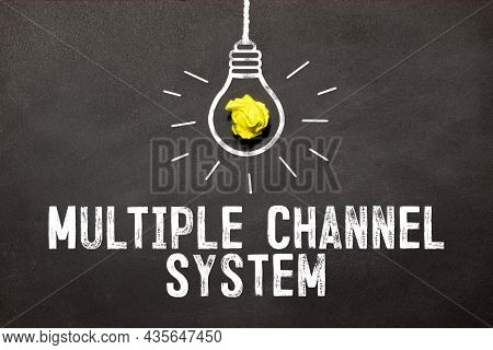 Text Multiple Channel System On White Business Noteboock, Concept.