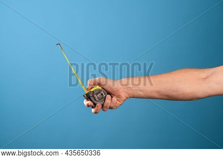 Measure It, A Yellow Construction Tape Measure To Measure The Length Of Something. Roulette With A M