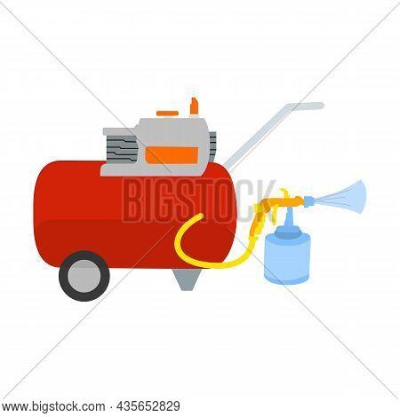 Compressor Vector Illustration, Accompanied By Vector Illustration