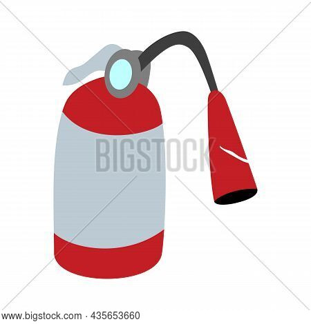 Fire Extinguisher Flat Vector Illustration, Vector Illustration Design
