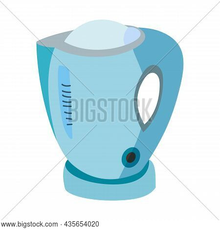 Modern Electric Tea Kettle Or Tea Kettle Hot Vector Drawing Design Illustration