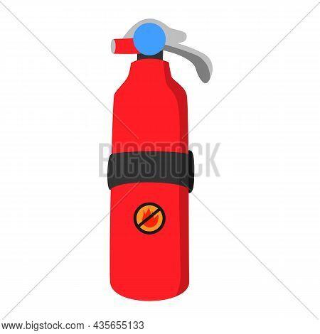 Flat Fire Extinguisher Vector Illustration On White Background
