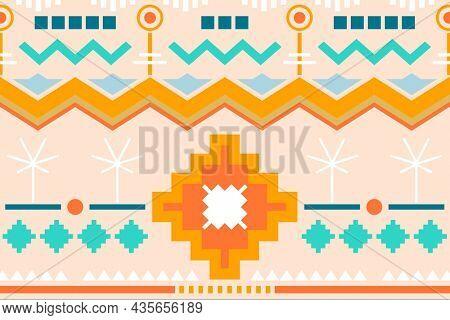 Ethnic pattern background, pastel textile design