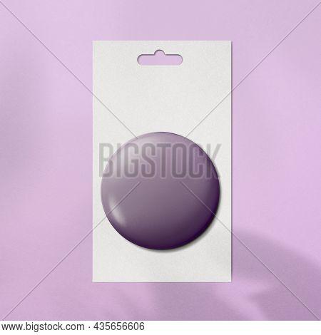 3D purple pin accessory, blank design space