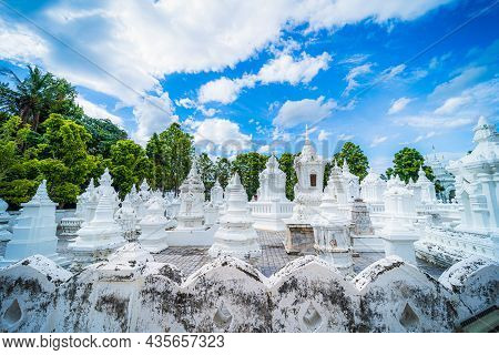 Wat Suan Dok Is A Buddhist Temple (wat) At Sunset Sky Is A Major Tourist Attraction In Chiang Mai No