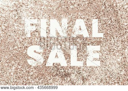 Final sale glittery shopping typography