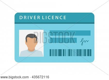 driver licence plastic card icon isolated on white backgroud