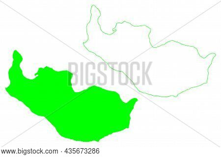 New Siberia Island (russia, Russian Federation, New Siberian Islands Archipelago) Map Vector Illustr
