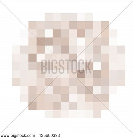 Censored Pixel Round Bar. Nudity Skin Or Sensitive Text Adult Content Cover. Censored Picture Vector