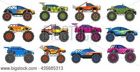 Monster Heavy Trucks, Extreme Race Large Wheels Cars. Extreme Show Heavy Cars, Big Wheels Vehicles V