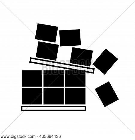 Stack Correctly Black Icon ,vector Illustration, Isolate On White Background Label. Eps10