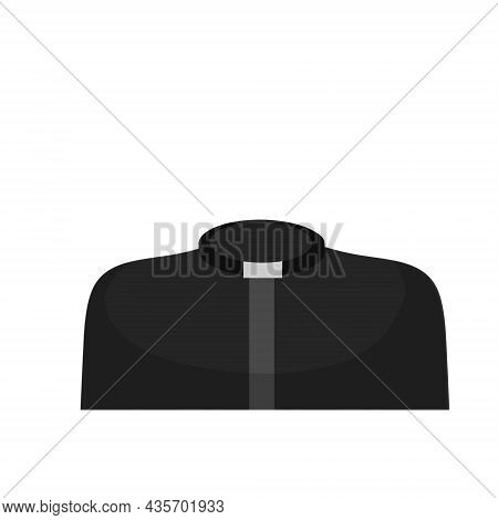 Catholic Priest Or Preacher. Symbol Of Religion And Church. Black Church Clothes. Shirt With A Colla