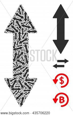Vector Vertical Exchange Arrow Collage Is Done With Randomized Recursive Vertical Exchange Arrow Pic