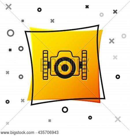 Black Photo Camera For Diver Icon Isolated On White Background. Foto Camera Icon. Diving Underwater