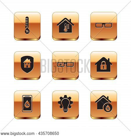 Set Humidity, For Smart Home, Light Bulb And Gear, Smart Glasses, House Under Protection, Glasses, H