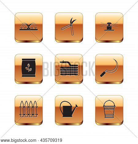 Set Automatic Irrigation Sprinklers, Garden Fence, Watering Can, Hose Or Fire Hose, Fertilizer Bag,
