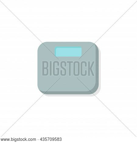 Electronic Fitness Scales Isolated Illustration. Electronic Fitness Scales Flat Icon On White Backgr
