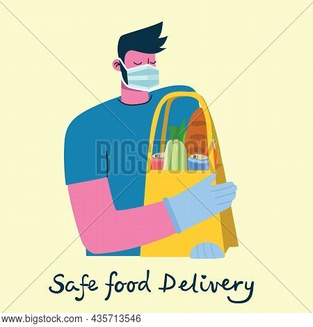 Vector Online Delivery Service Concept, Food Delivery Service Concept, Online Order Service In The F