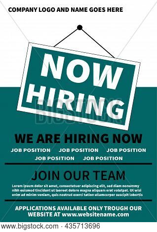 We Are Hiring Social Media Post Flyer Or Poster Template Design