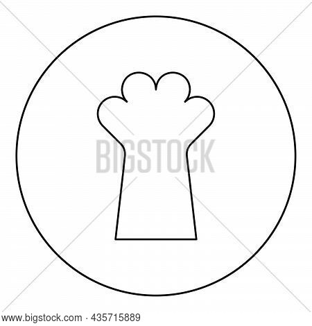 Cat Paw Foot Cat's Leg Cute Domestic Animal Icon In Circle Round Black Color Vector Illustration Sol