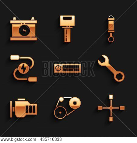 Set Car Audio, Timing Belt Kit, Wheel Wrench, Wrench Spanner, Check Engine, Battery Jumper Power Cab