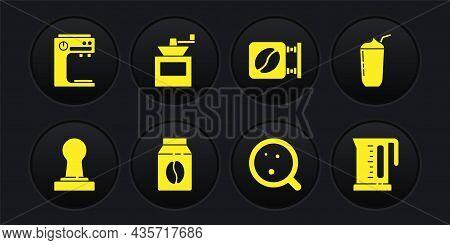 Set Coffee Tamper, Milkshake, Bag Coffee Beans, Cup, Street Signboard, Manual Grinder, Electric Kett