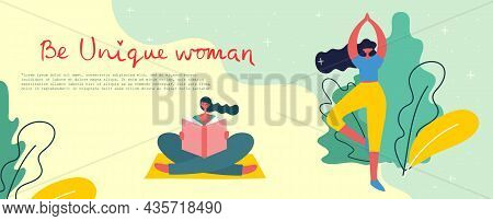 Stronger Together. Feminine Concept And Woman Empowerment Design For Banners And Posters