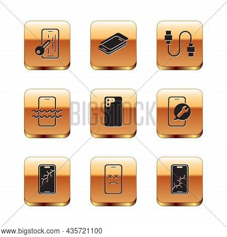 Set Glass Screen Protector, Mobile With Broken, Dead Mobile, Smartphone, Waterproof, Usb Cable Cord,
