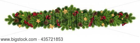 Christmas Realistic Vector Template, Christmas Tree Branches, White Gift Boxes With Gold Ribbons, Co