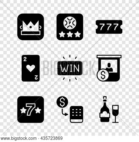 Set King Playing Card, Online Poker Table Game, Lottery Ticket, Casino Slot Machine, Chips Exchange,