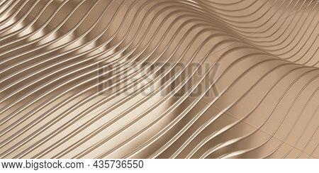 Parallel Line Wave Background Waves Of Plastic Swaying Rubber Sheet 3d Illustration