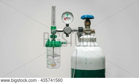 Covid-19 Crisis Cause Shortage Oxygen Cylinder For Patient.