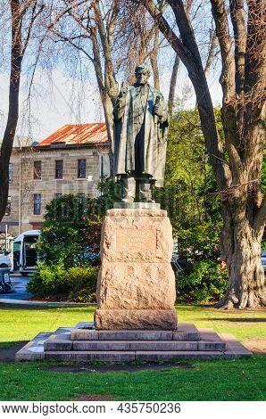 Hobart, Tasmania, Australia - September 16, 2017: This Statue Commemorates Albert George Ogilvie (18
