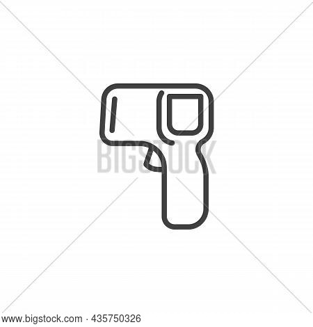 Infrared Thermometer Line Icon. Linear Style Sign For Mobile Concept And Web Design. Medical Thermom