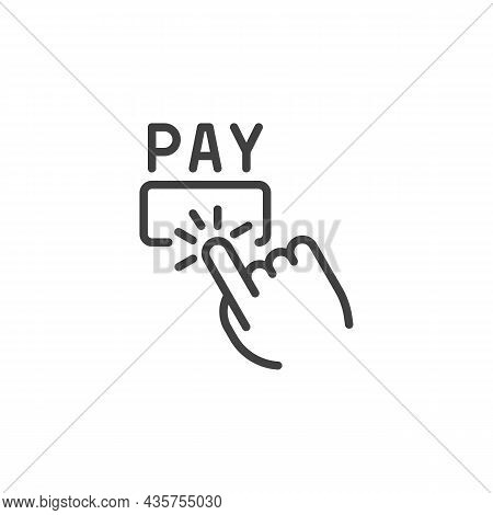 Pay Per Click Advertising Line Icon. Linear Style Sign For Mobile Concept And Web Design. Pay Per Cl