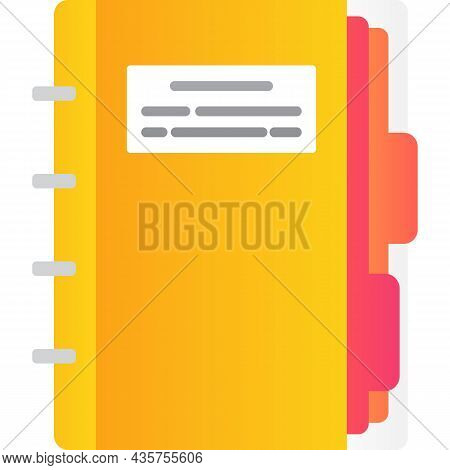 Paper Notebook Icon Vector Notepad On White