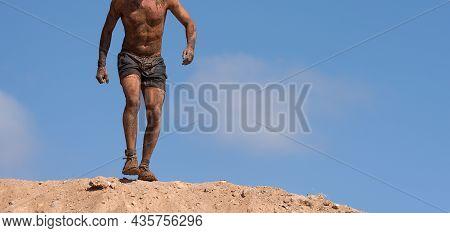 Trail Running Man Marathon Running Athlete Extreme Cross