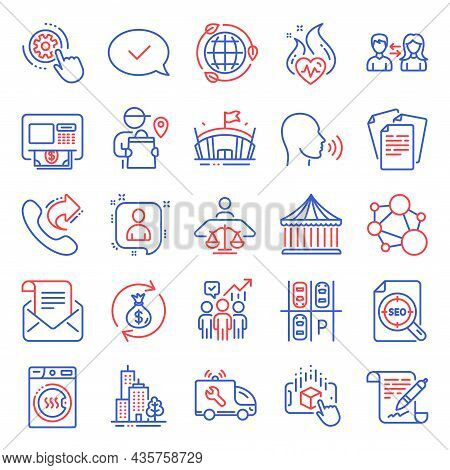 Business Icons Set. Included Icon As Agreement Document, People Communication, Share Call Signs. Dry