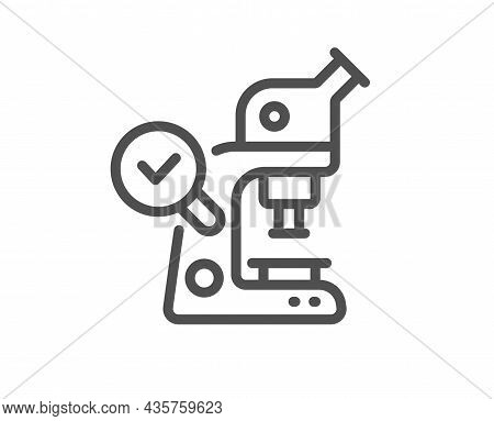 Microscope Line Icon. Laboratory Equipment Sign. Science Lab Instrument Symbol. Quality Design Eleme