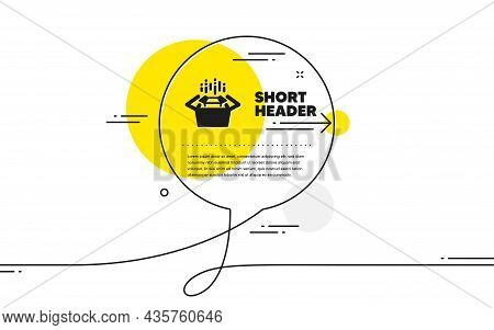 Packing Boxes Icon. Continuous Line Chat Bubble Banner. Delivery Parcel Sign. Cargo Box Symbol. Pack