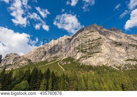 Mountain Range Of The Pomagagnon (2450 M.), Dolomites, Unesco World Heritage Site, Italian Alps, Nea